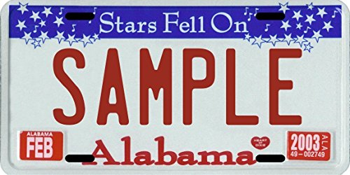 sparkly license plate