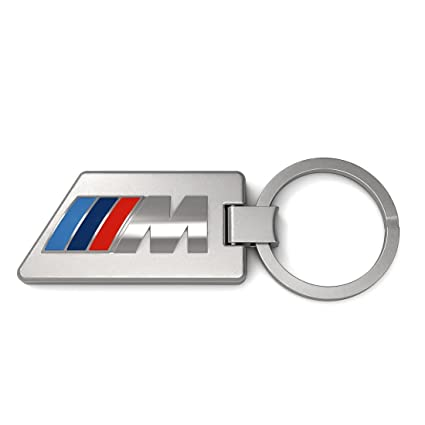 Amazon.com: Genuine BMW M Key Chain - Stainless Steel/Carbon ...