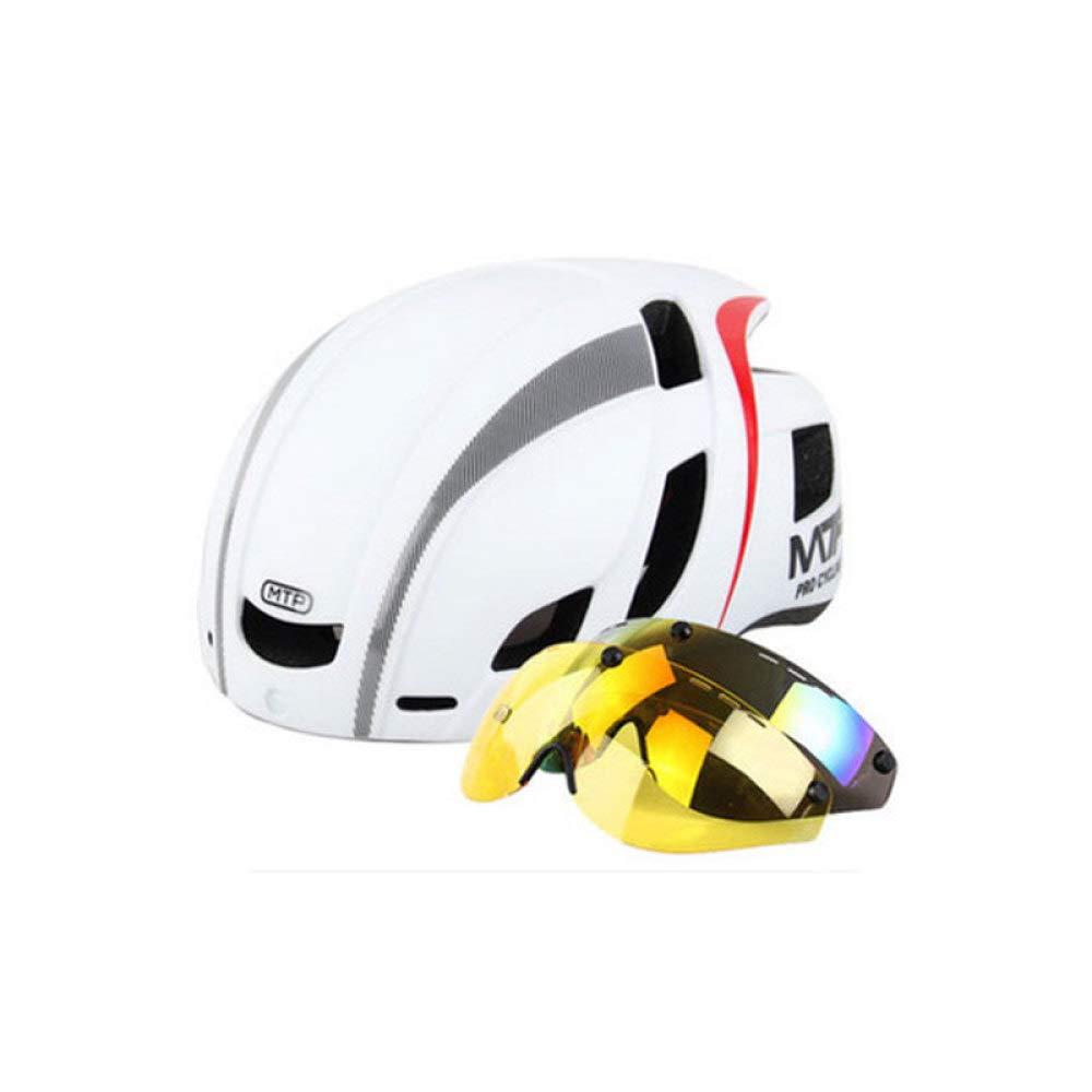 HELMET Cycle Fahrradhelm Mit Abnehmbaren Magnetischen Schutzbrillen Visor Shield Für Frauen Männer,Fahrradhelme Adjustable Erwachsenenschutz und Atmungsaktiv,C