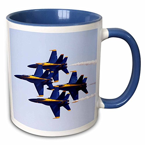 - 3dRose 60480_6 Angels at Air Show Two Tone Blue Mug, 11 oz, Multicolor