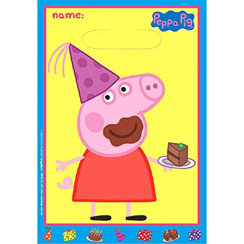 American Greetings Peppa Pig Treat Bags, 8-Count ()