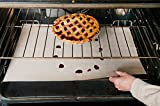 Evelots 2 Large Non Stick Oven RACK Liners,Keep Your Oven Clean, Washable, Beige