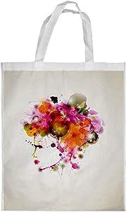 Woman Painting Artistic Printed Shopping bag, Medium Size