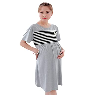 Plus Size Maternity Dress, Pregnant Nightwear Breastfeeding ...