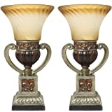 Urban Designs Parisian Torchiere Up Light Table Lamp (Set of 2), 22''