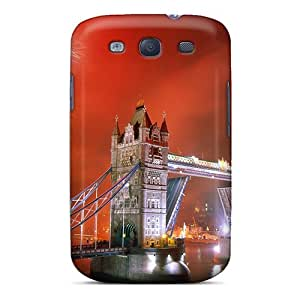 New Fashionable Dsorothymkuz POyCAAI2585HuGfO Cover Case Specially Made For Galaxy S3(light Up The Night Tower Bridge London Engl)