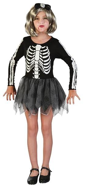 Bristol Novelty Esqueleto niña Disfraz: Amazon.es: Juguetes ...