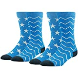 Fashion Pattern Crew Socks, Ristake Combed Cotton Crazy Cool Novelty Crew Socks 1/2/4 Pairs
