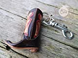 Handmade Brown Leather Cowboy Boot Key Ring