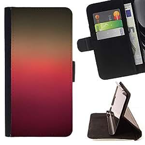 For Samsung Galaxy S6 EDGE (NOT S6) Plus / S6 Edge+ G928 Case , Colores de degradado Rosa púrpura de Brown- la tarjeta de Crédito Slots PU Funda de cuero Monedero caso cubierta de piel