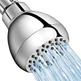 Shower Head High Pressure WarmSpray 3'' Full-Chrome Rain Showerhead with Powerful Massage/Spray Experience- The Best Rainfall Shower Heads for Low Water Pressure