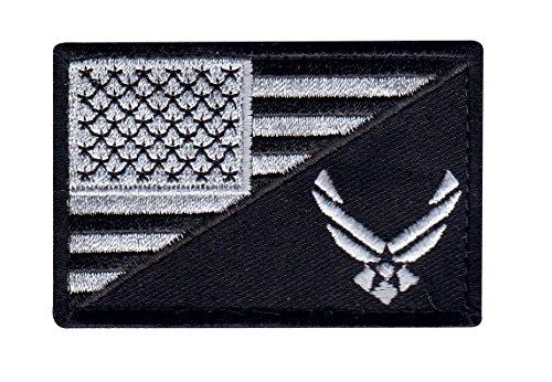 US Flag Air Force Logo Tactical Morale Hook+Loop Patch G2