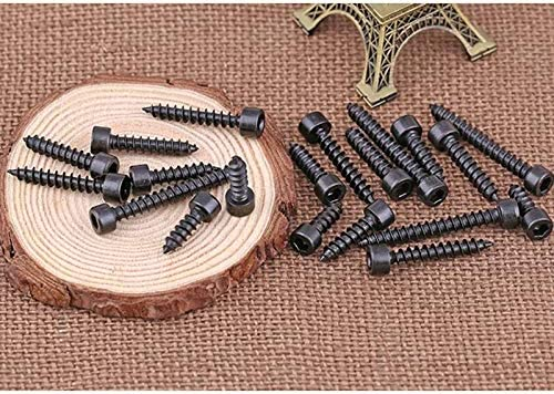 Dimensioni : M3, Lunghezza : 12mm BOJI Hexagon Bolts For Wood Screws Hexagon Tapping Screws For Wood Screws