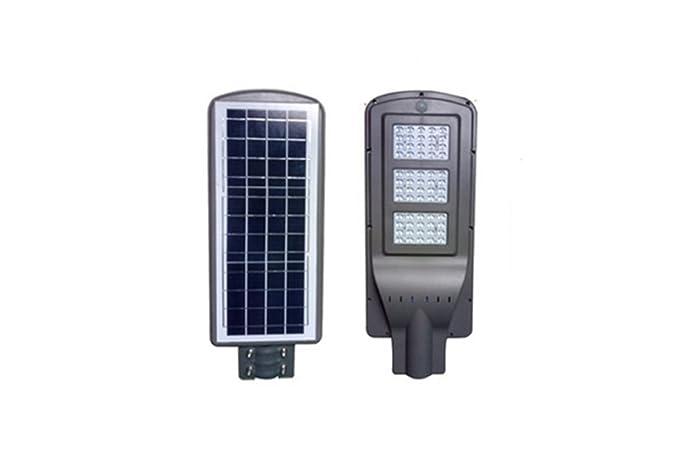 Faro led stradale w lampada energia solare crepuscolare per