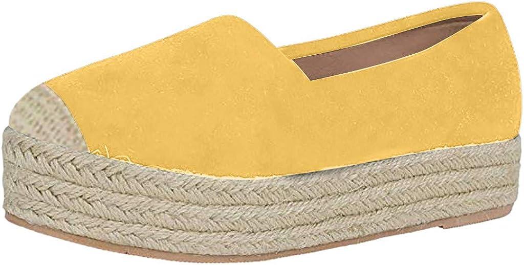 Women s Platform Sneaker Fashion Slip on Round Toe Dress Casual Walking Comfort Flat Boat Shoes