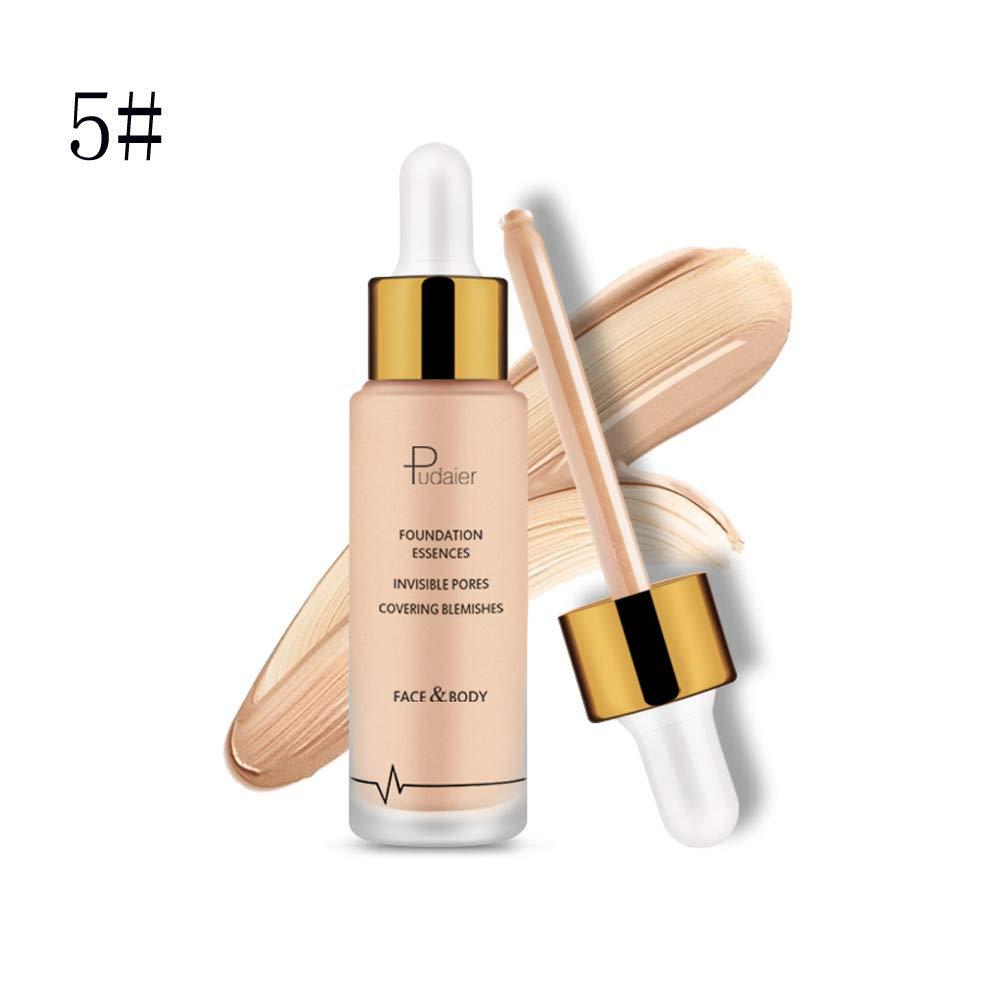 ❤️ Sunbona Clearance Pudaier Waterproof Lasting Foundation Concealer Highlight Contour Liquid Stick Makeup Natrual Crea (E)