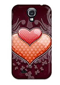Faddish Phone Heart Love Vector Wide Case For Galaxy S4 / Perfect Case Cover 6923315K62320570