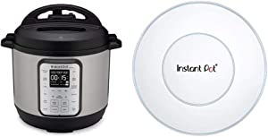 Instant Pot Duo Plus 8 Quart 9-in-1 Electric Pressure Cooker, Slow Cooker, Rice Cooker, Steamer, Saute, Yogurt Maker & Warmer, Sterilizer, 15 One-Touch Programs & Silicone Lid, 8 quart, White
