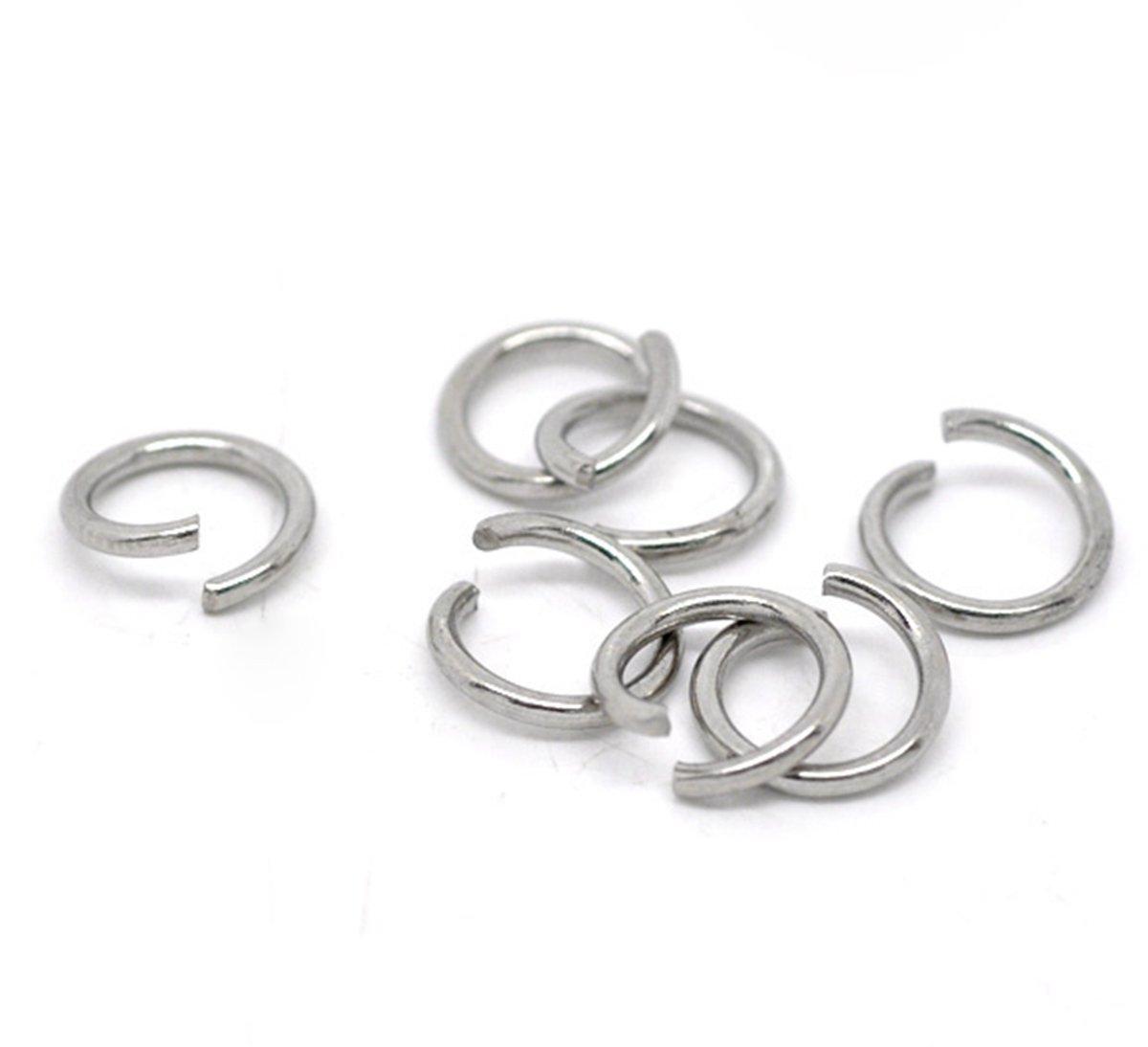 HooAMI 200 pcs Anneaux de Jonction en Acier inoxydable Accessoires de bijoux pour DIY Bijoux TY HooAMI080