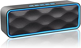 Wireless Speaker,Bluetooth Speaker, Portable Outdoor Stereo Wireless Bluetooth Speaker with HD Audio and Enhance Bass, Dual Driver Speakerphone, Handsfree Calling (Blue)