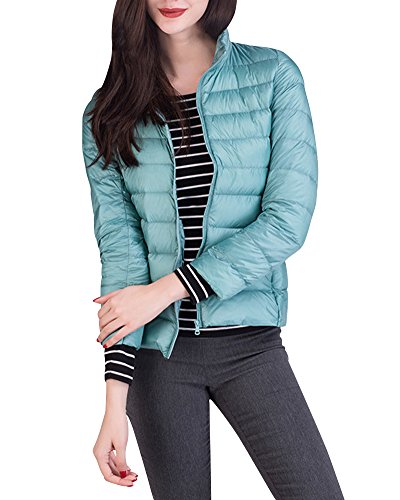 Leggeri Packable Inverno Giacca Corto Piumino Giacche Donna Trapuntato Pink Blu Cappotto wqtYt7
