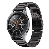 Kartice Compatible Samsung Galaxy Watch (46mm) Bands, 22mm Galaxy Watch Band Solid Stainless Steel Metal Replacement Bracelet Strap fit Samsung Galaxy Watch SM-R800 Smart Watch (46mm).-Black