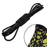 Coohole 1 Pair New Elastic No-Tie Locking Shoelaces Shoe Laces With Buckles For Sport Shoes (A)