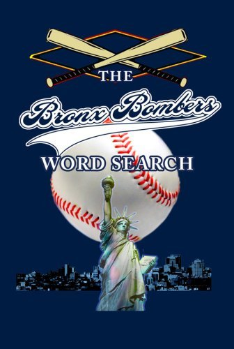 The Bronx Bombers Fan Word Search (New York - York Nyc Yankees New Store