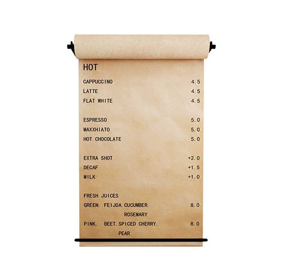 アンティークメタルブラックディストリビュータ - スタジオローラー紙の壁の装飾 - オフィスコンセプト - 多機能壁取り付け装飾,W26xH5.9In B07RBRHG6Y W26xH5.9In