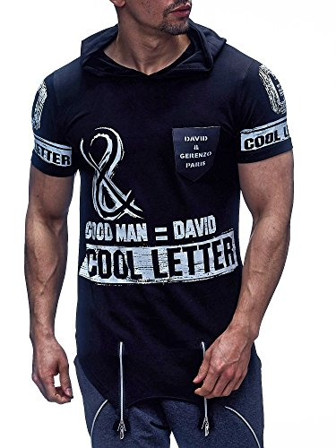 David & Gerenzo - Camiseta - para hombre negro