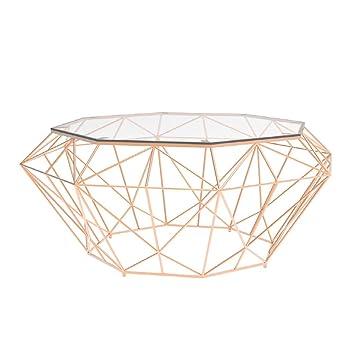 En Transparent Verre Basse OctogonalePlateau Trempé Table De OkiTPZXu