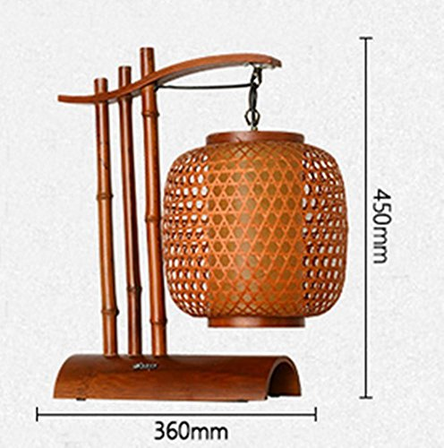 Bamboo Art Led Lamp Table Lamp Study Living Room Bedroom Bedside Bamboo Lamp Personalized Creative Lamps (2645Cm) by DMMSS