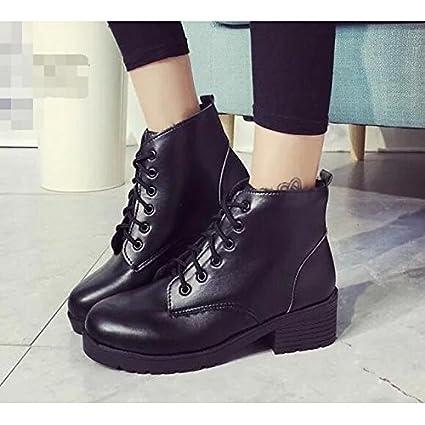 d6fe30d8 ZHZNVX HSXZ Zapatos de Mujer PU Primavera Otoño Comodidad Moda Zapatos  Botas Botas de Tacón Plano
