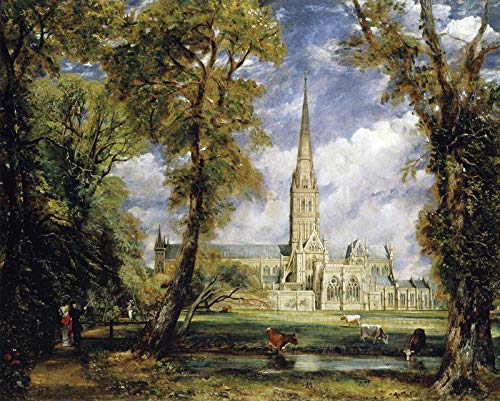 John Constable Salisbury Cathedral from The Bishops Garden 1825 Metropolitan Museum of Art - New York, NY 30