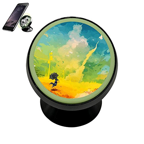 Artsy Edges - HACol Artsy Painting Magnetic Phone Car Mount Holder, 360 Rotation Magnetic Car Phone Holder Stand