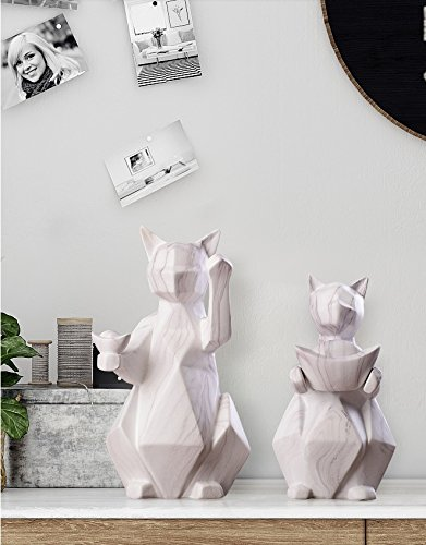 Nordic style cat ornaments exquisitely modern and simple European style living room TV soft ceramic zj01241004 ( Size : L )