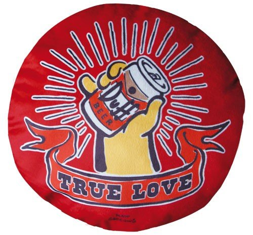 Cerveza Duff De Los Simpson Amortiguar Amor Verdadero ronda Cerveza Duff Almohada peluche cuero de antehttps://amzn.to/3jg9bua