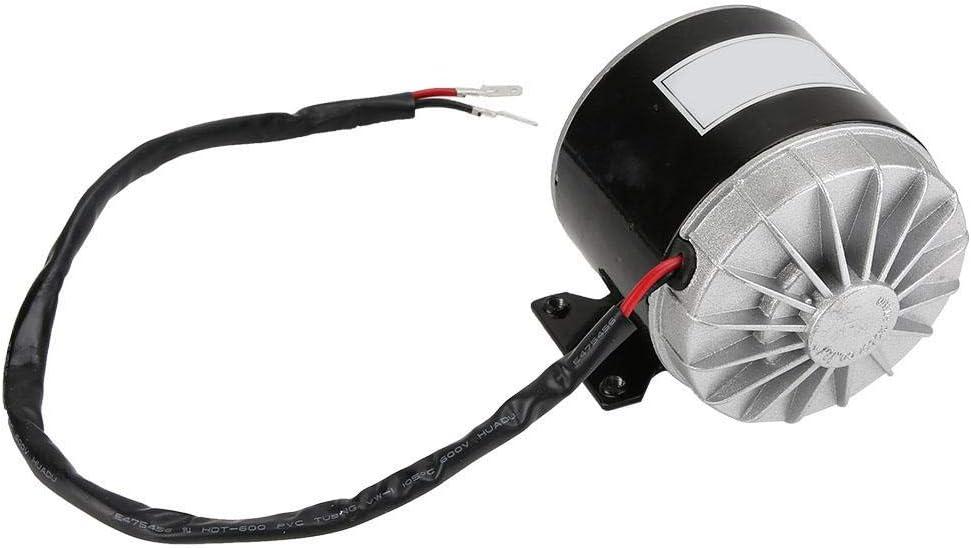 A sixx Motor eléctrico MY1016, Motor de Alta Velocidad CC de 2750 RPM, Cepillo de 24 V de Aluminio de 350 W para reemplazo de Scooter eléctrico de Bicicleta eléctrica