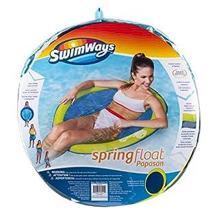 SwimWays Spring Float Papasan - Mesh Float for Pool or Lake - Light Blue / Lime