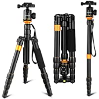 Tripod,Andoer 153cm/ 60inch Camera Tripod Aluminum Alloy Monopod Unipod with 360 Degree Ball Head Quick Release Plate for Canon Sony Nikon camera