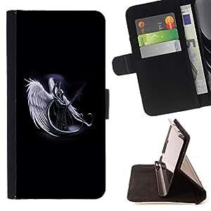 BullDog Case - FOR/Sony Xperia m55w Z3 Compact Mini / - / Horned Angel Warropr /- Monedero de cuero de la PU Llevar cubierta de la caja con el ID Credit Card Slots Flip funda de cuer