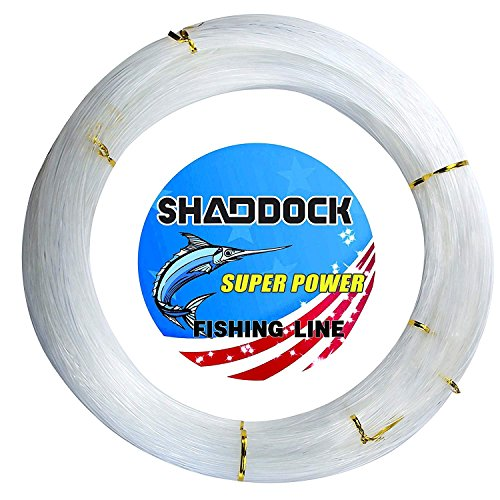 Monofilament Fishing Line 547yds 13 lb.-396 lb. Nylon Mono Fishing Lines - Super Strong Monofilament Fishing Leader Line Speargun Line Saltwater/Freshwater (Clear, 1.5mm/251lb)