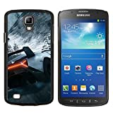 GRECELL CITY GIFT PHONE CASE /// Cellphone Protective Case Hard PC Slim Shell Cover Case for Samsung Galaxy S4 Active i9295 /// Car Race Mountains Ice Snow Sports Cool