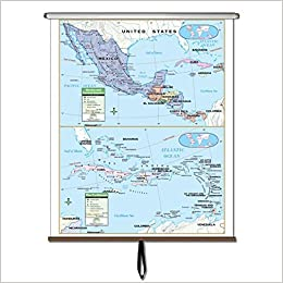 Amazon Com Central America Primary Wall Map Roller Primary Classroom Wall Maps 9780762547883 Kappa Map Group Books