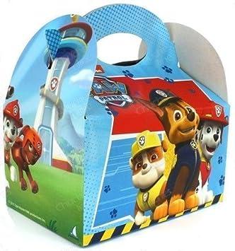 PAW PATROL 4 Cajas Regalo de cumpleaños para niños Fiesta temática//Niños Fiesta de cumpleaños Treat Boxes Caramelos Bolsas de Fiesta Salvavidas Perros TV ...