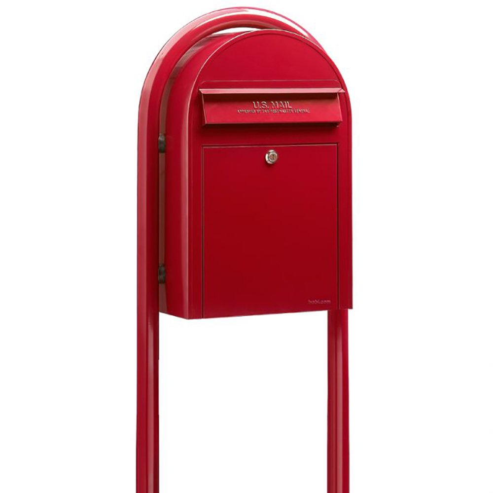 VP-02729BL European Outdoor Curbside Modern Mailbox with