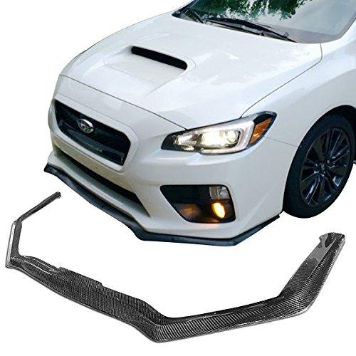 (Front Bumper Lip Fits 2015-2018 Subaru Impreza WRX & STI | HT Style Carbon Fiber (CF) Front Lip Spoiler Splitter by IKON MOTORSPORTS | 2016 2017)