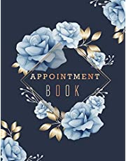 Appointment Book: Floral Cover 6 Column Appointments Notebook for Salons Hairdressers Spa Planner Hourly Undated Daily with Time 15 Minute Increments 8AM to 9 PM Weekly Monday to Friday