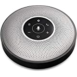 eMeet M2 Speakerphone Conference Phone Speaker Accomodate 5-8 People Business Conference Call 360º Voice Audio Pickup AI Self-Adaptive Speakerphone 4 Microphone Array (Darkgrey)