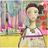 Kelly Rae Roberts Brave Girl Wall Art, 16 Square Inch